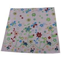 5 Pcs Colorful Flower Baby's Cotton Bibs Infant Handkerchief Sweat Wash Towel