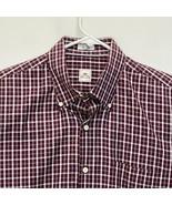 Peter Millar Men's Shirt Maroon White Checks Large - $32.64