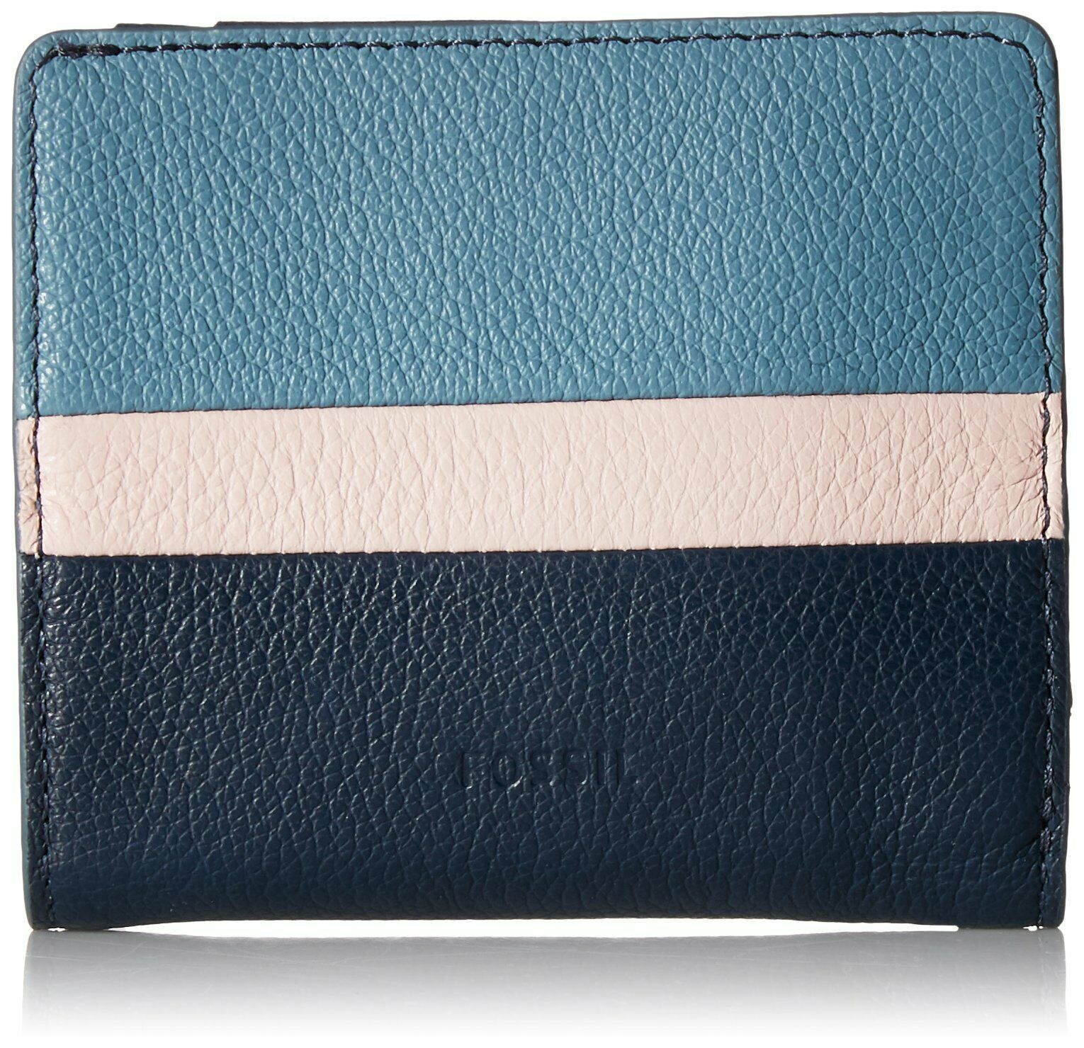 Fossil Women's Emma RFID Bifold Mini Wallet, Blue Multi $45