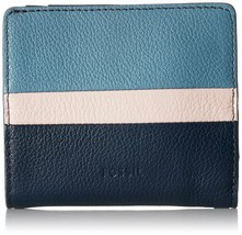 Fossil Women's Emma RFID Bifold Mini Wallet, Blue Multi $45 - $35.10