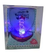 Disney Be My Valentine Light Up Glass Figurine Minnie Mouse NIB - $12.26
