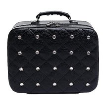 Cosmetics Case Household Storage Pack Makeup Organizer Toiletry Bag -Black - $52.01