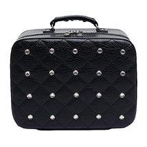 Cosmetics Case Household Storage Pack Makeup Organizer Toiletry Bag -Black - $52.01