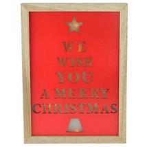 "Northlight 11.75"" We Wish You a Merry Christmas LED B/O Wall Decor - $20.78"