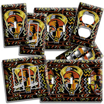 African Mask Tribe Chief Warrior Graffiti Light Switch Outlet Wall Plate Decor - $9.99+