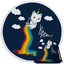Flying Unicorn Cat Beach Towel - $12.32+