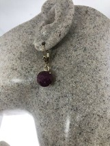 Vintage Raw Ruby Earrings Gold Filled Lever Backs - $96.06