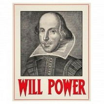 Will Power (William Shakespeare) Metal Wall Sign - $7.44