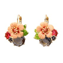 KISS ME Chic Enamel Flower Jewelry Set Wholesale Fashion Women Dangle Ea... - $23.31