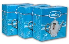Manasul Tea 50's 3-Pack- Te Manasul 150 Total Tea Bags - $29.09