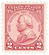 1930 General von Steuben Block of 15 US Postage Stamps Catalog Number 689 MNH image 2