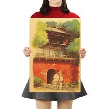 Nostalgia D Style Kraft Paper Poster Classic Cartoon Movie Film Home Wall Decor - $4.45