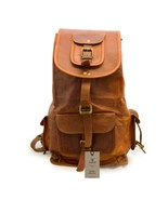 New  Genuine RusticSoft Goat Leather Casual Ladies Backpack Rucksack Tra... - $56.09