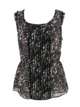 Banana Republic Women's Purple Sleeveless Drop Waist Pleated Blouse Size... - $14.85