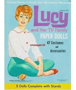 VINTAGE UNCUT 1963 LUCY & HER TV FAMILY PAPER DOLLS~#1 REPRODUCTION~GREAT SET! - $19.99