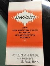 1930s Nicols Dean Gregg DeVilbiss Spray Painting Guns Pamphlet - $29.99