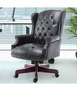 Black Executive Office Chair Manager Padded PU Leather High Back Swivel ... - $345.64