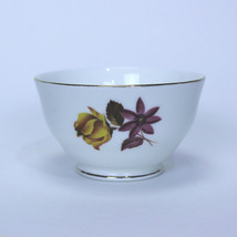 Vintage OPEN SUGAR BOWL Duchess Roses | DUC59 | Yellow Mauve Bone China ... - $12.82