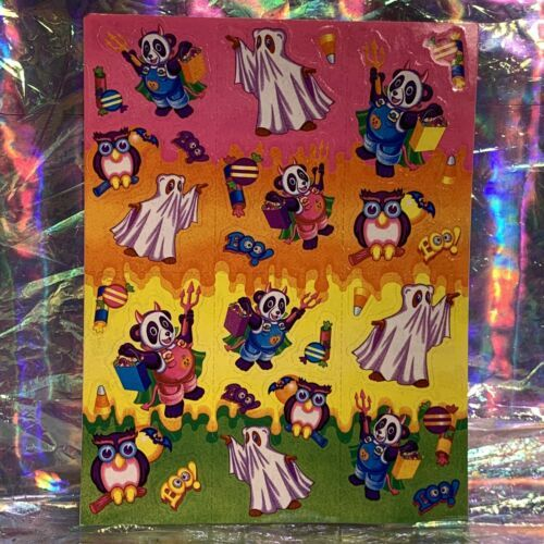 VTG Lisa Frank COMPLETE Halloween Holiday Sticker Sheet S256 MINTY