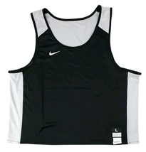 New Nike Men's Large Stock Elite Reversible Lacrosse Tank Black White 84... - $17.99