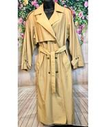Womens Vintage Fleet Street Khaki Button Down Lined Rain Coat Size 8 - $18.70