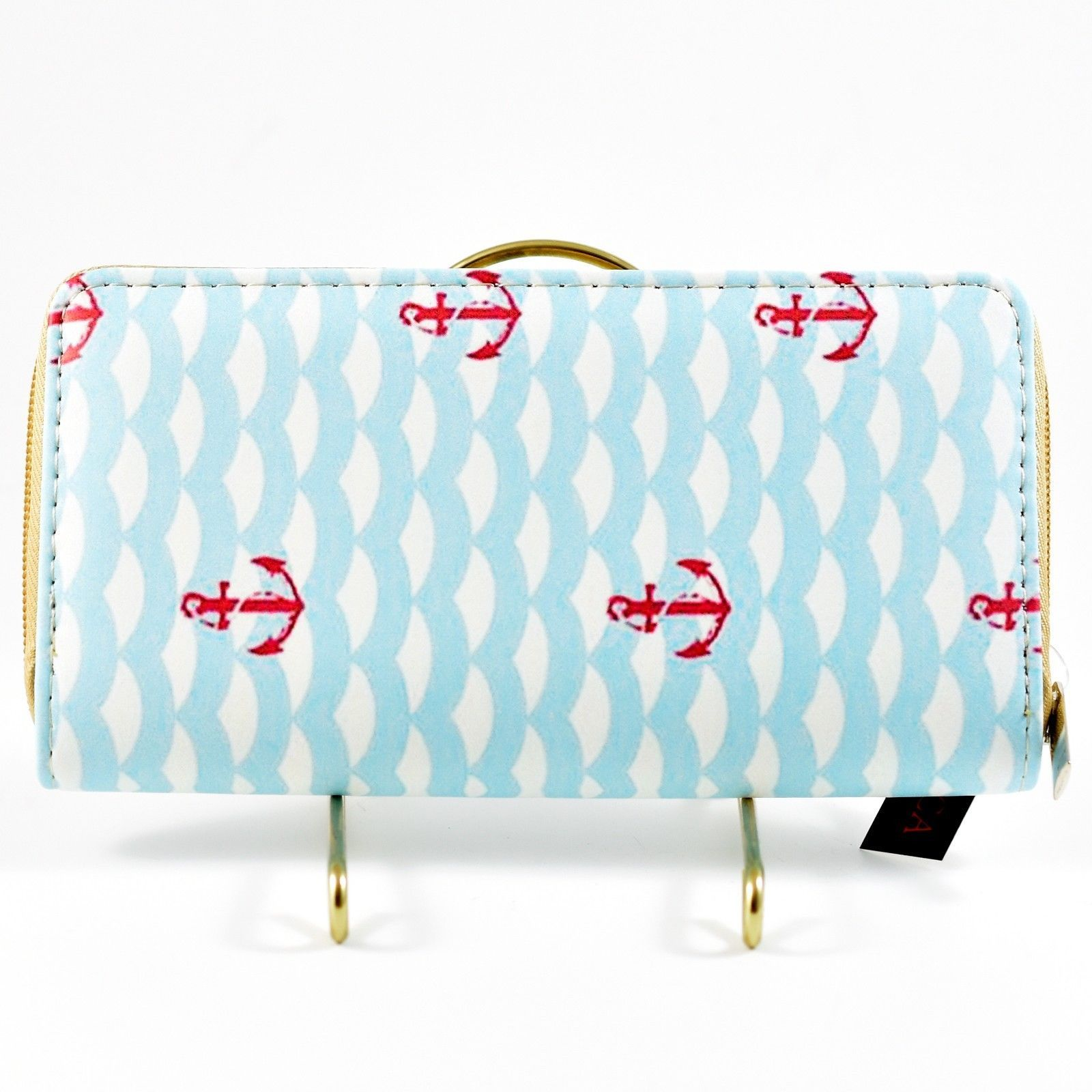 Bijorca Anchor Point Ocean Nautical Clutch Wallet New w Tags