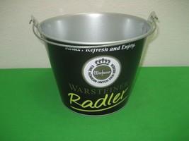 Warsteiner Radler Black Galvanized Tin Ice Bucket Pail Drink Holder Cont... - $13.98