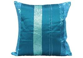 Turq Seqence Blue Cushion Cover  (set of 2) pillow case - $26.00