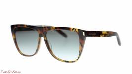 YVES SAINT LAURENT Rectangular Sunglasses SL 1 007 Havana/Grey Lens 59mm  - $183.33