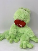 "Wishpets Plush Green Frog Prince w/ Red Kiss Me Heart Stuffed Animal 10""... - $9.90"