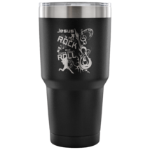 Christian Tumbler Jesus Is My Rock And Roll Musician Gift - $33.95
