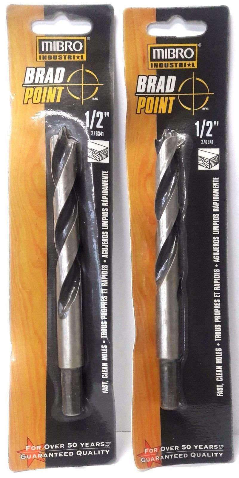 "Primary image for Mibro 276341 1/2"" Brad Point Drill Bits Reduced Shank 2PKS"