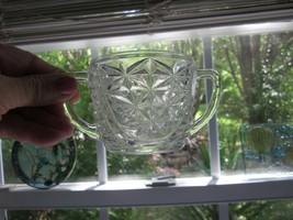 Sugar Bowl Open 2 Handled Anchor Hocking 1960's Stars And Bars Sunburst ... - $6.70