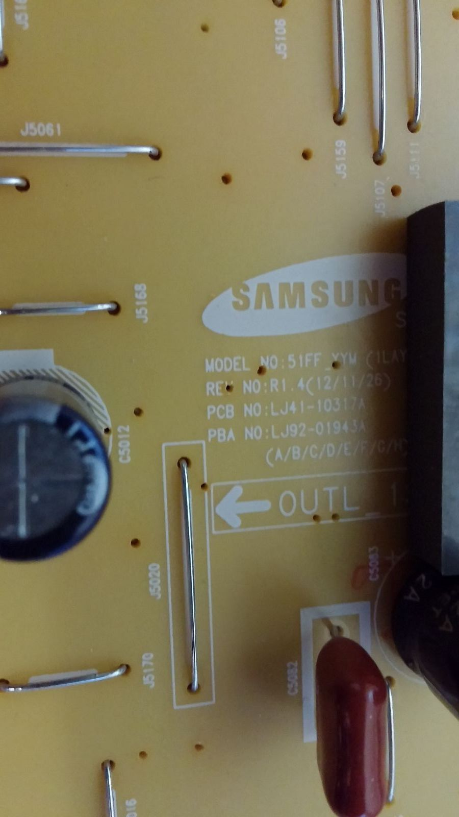 Samsung PN51F5300AFXZA US01 X-Main Board BN96-25250A