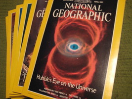 Original Vintage 1997 Lot of 6 NATIONAL GEOGRAPHIC Magazines - $14.43