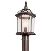 Kichler 49187TZ Barrie Outdoor Post Light Tannery Bronze - $139.99