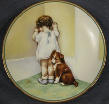 In Disgrace Child's Best Friend Collector Plate Bessie Pease Gutmann Pup... - $42.95