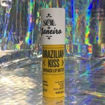NWOB Sol De Janeiro Brazilian Kiss Lip Balm Lovely Dulce De Leche Scent Full Sz