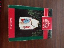 """HALLMARK KEEPSAKE ORNAMENT """"EGG NOG NEST"""" CHRISTMAS - $4.95"""