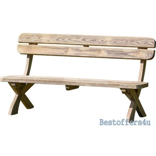 Patio Wooden Dining Table and Bench Set 6 Seaters Garden Solid Luxury Furniture image 2