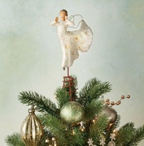 ANGEL SONG OF JOY TREE TOPPER SCULPTURE HAND PAINTED WILLOW TREE SUSAN L... - $118.80