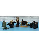 LOT OF 6 Avon Cowboy Aftershave Bottle Set Pony Express Saddle Longhorn ... - $48.88