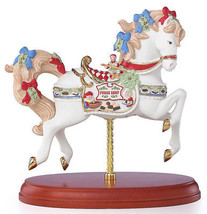 Lenox 2018 Christmas Carousel Horse Santa's Fudge Shop Figurine #878315 New - $178.90