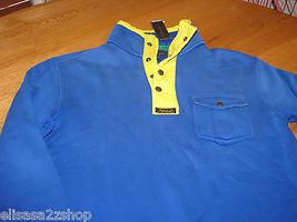 Mens Polo by Ralph Lauren XL xlarge blue fleece shirt 0477874 1/2 zip 3 - $168.80
