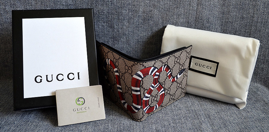 c757142ff63423 Gucci Kingsnake GG Supreme Wallet*Style 451268 K551N 8666*New In Box