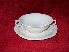 SANSSOUCI IVORY NO TRIM  ROSENTHAL cream soup cup and saucer - $14.80