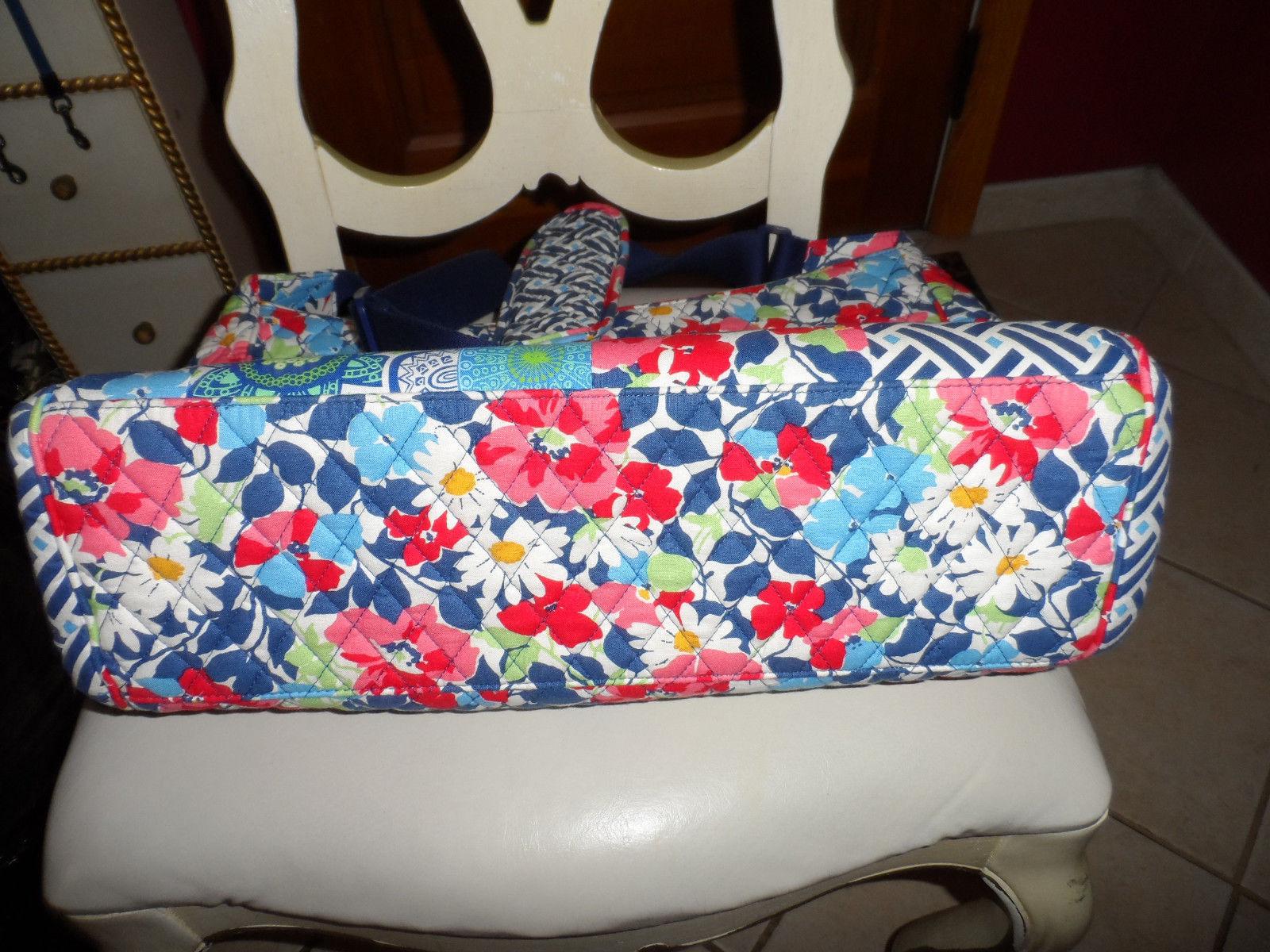 Vera Bradley Summer Cottage patchwork Medley baby tote bag image 4