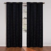Eclipse Meridian 63-Inch Blackout Window Curtain Panel, Black - $17.11