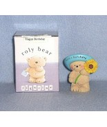 Hallmark Roly Bear Happy Birthday Figurine with box - $4.99