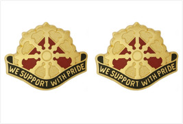 Genuine U.S. Army Crest: 46TH Support Group (We Support With Pride) - $18.79
